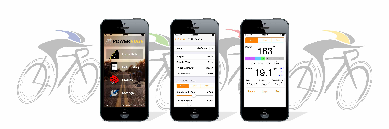 Bicycle Power Meter Handheld : Poweredge cycling power meter and bike computer apps